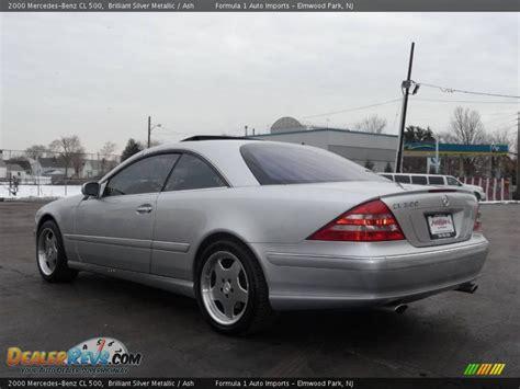 2000 Mercedes Cl 500 by 2000 Mercedes Cl 500 Brilliant Silver Metallic Ash