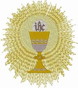 Thread Size Chart Chalice Eucharist Embroidery Design