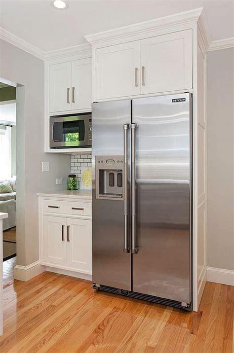 Cabinets Around Fridge by 32 Kitchen Cabinets Around Refrigerator For More Storage