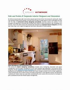 Role and Duties of Corporate Interior Designers and Decorators