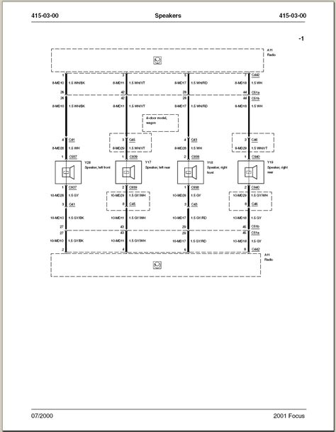 2001 Ford Focu Wiring Diagram by I Need A Wiring Diagram For 2001 Ford Focus With A Radio