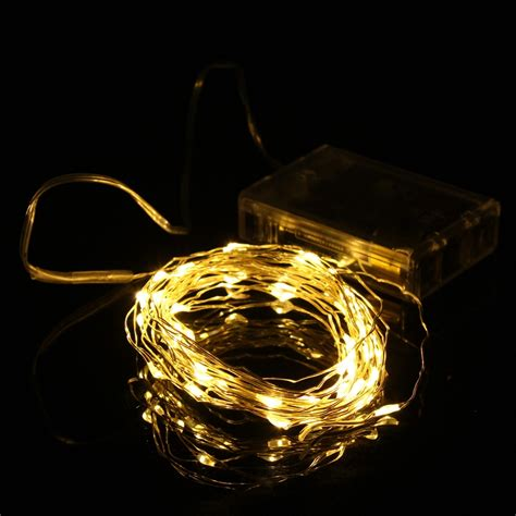 battery operated party lights best price 5m 50 led string fairy light battery operated
