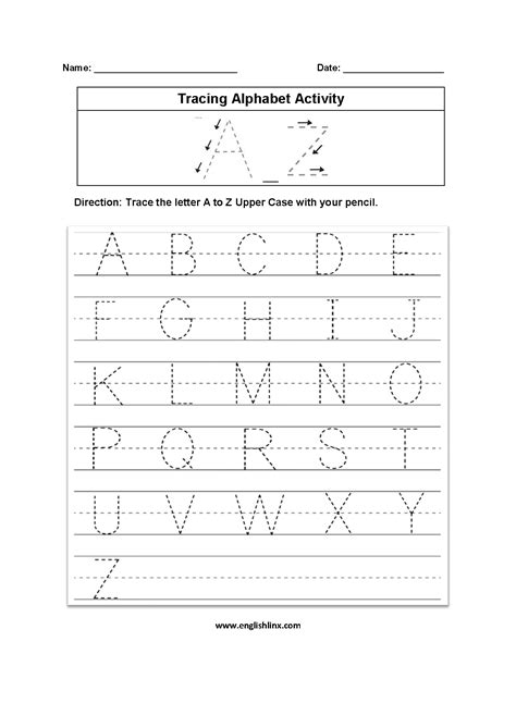 Englishlinxcom  Alphabet Worksheets