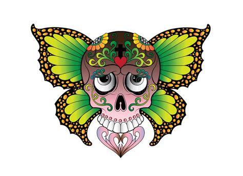 Art Skull Wings Angel Tattoo Stock Illustration