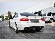 BMW E92 3 Series M Tech DTM Carbon Fiber Rear Diffuser Quad