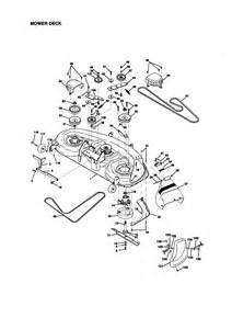 craftsman lt1000 mower deck diagram images