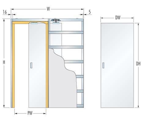 eclisse single glass pocket door complete package 100mm