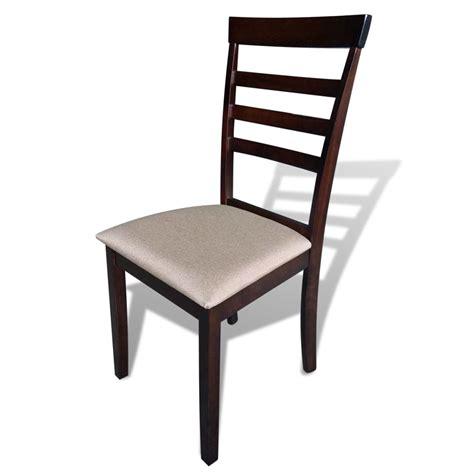 lot de 6 chaises en bois acheter lot de 6 chaises marron crème en bois massif pas cher vidaxl fr