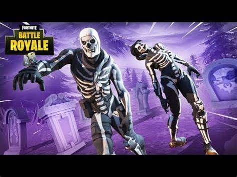 purple glow skull trooper skin fortnite battle