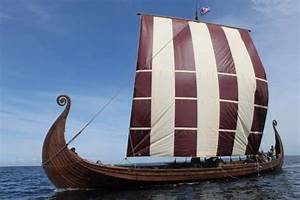 """""""Charioteer,"""" a full-scale replica of the Oseberg ship ..."""