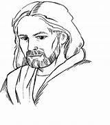 Jesus Cartoon Drawing Draw Drawings Sketch Coloring Credit Larger sketch template