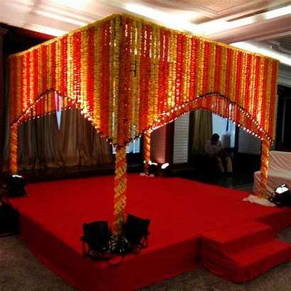 Decoration Indian Stage Simple Marigold Decorations Hall