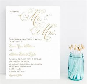 fancy script wedding invitations gold taupe champagne With fancy that wedding invitations