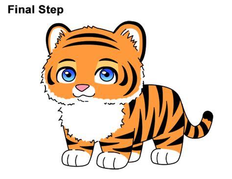 tiger clipart drawing cartoon pencil   color tiger