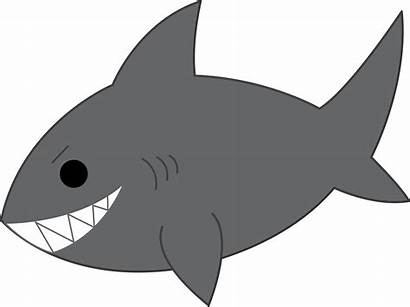 Shark Gray Clip Mischievous Svg Sweetclipart