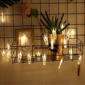 10, Led, Warm, White, Light, Photo, Clip, String, Lights, Fairy, String, Lights, With, Clear, Clips, For