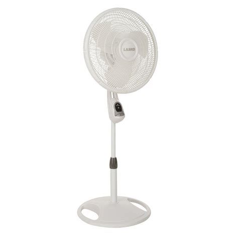 standing fan with remote control lasko 16 in remote control stand fan 1646 the home depot