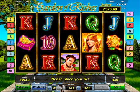 play garden  riches  slot novomatic casino slots