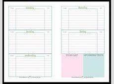 Weekly School Planner Template listmachineprocom