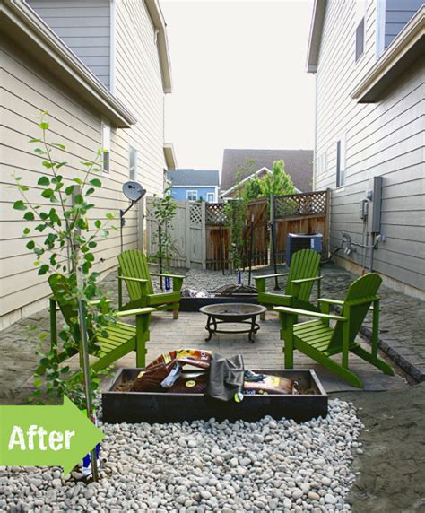 before after emily s side yard hang out pith vigor
