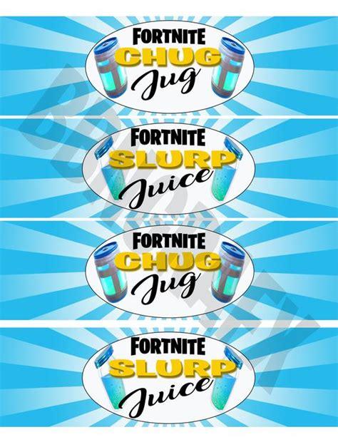 fortnite birthday fortnite party water bottle labels slurp