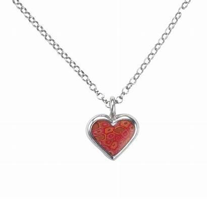 Necklace Heart Chain Pendant Circle Necklaces Wear