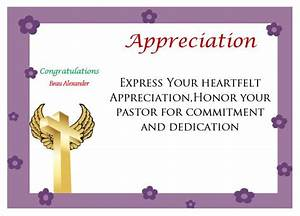 printable pastor appreciation certificate pastor With pastor appreciation certificate template free