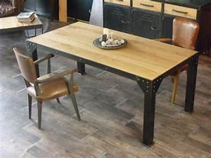 Table A Manger Industrielle : tables meuble de style industriel bois et acier sur mesure micheli design ~ Teatrodelosmanantiales.com Idées de Décoration