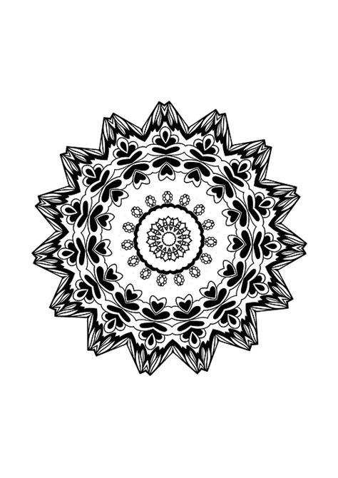 mandala design drawing coloring  image  pixabay