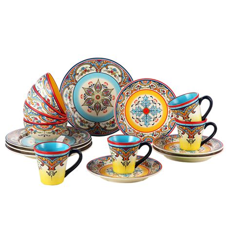 dinnerware piece zanzibar service euro dishes kitchen ceramica sets dinner dish mediterranean wayfair plates artisan assorted plate ceramic stoneware zb