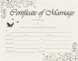 printable marriage certificate templates 10 editable With wedding certificate templates free printable