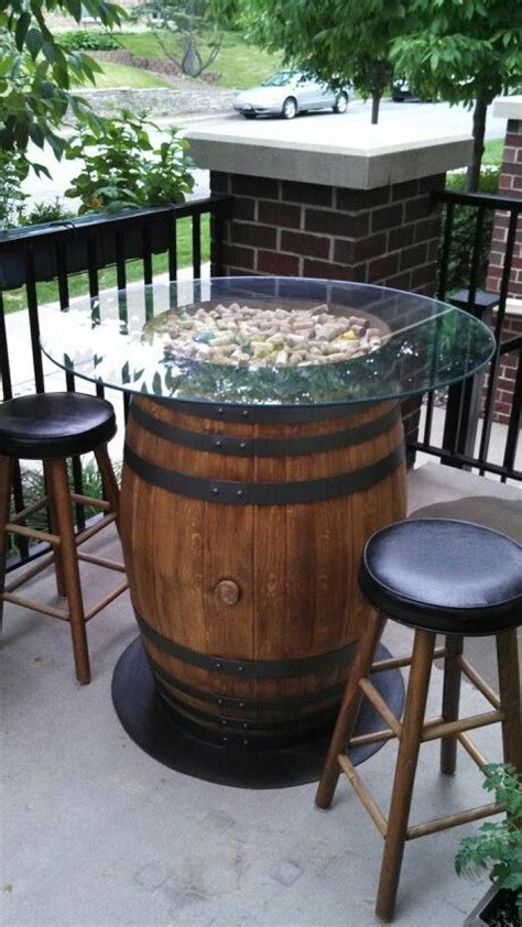 wine barrel patio table yes future home