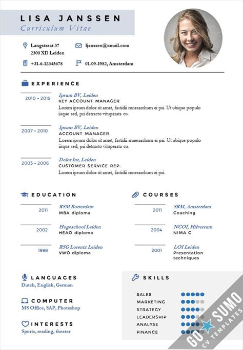 21403 resume templates and exles stand out cv design cv template in word and powerpoint
