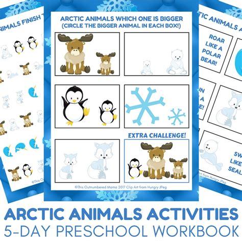 arctic animal activities for autistic 745   Arctic Animals Activities 5 day Preschool Workbook for Arctic Animal Unit Studies