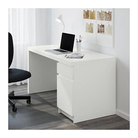 malm desk white 140x65 cm ikea