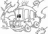 Ambulance Coloring Cartoon Printable Vehicles Popular Categories sketch template