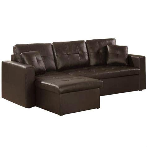 canap 233 d angle design alabama en cuir marron achat vente canap 233 sofa divan cdiscount