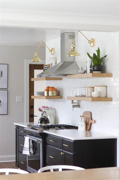 style open shelves   kitchen open shelving