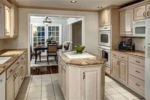 Whitewash Cabinets Kitchen White Washed Oak Cabinets On In