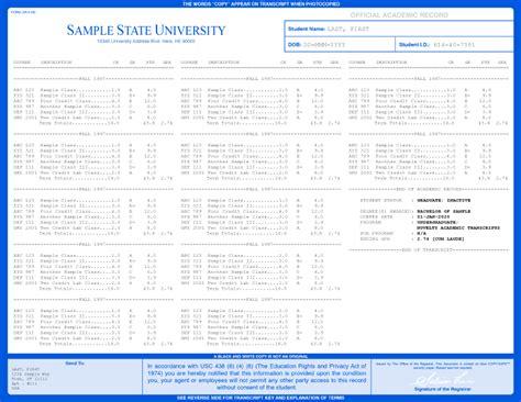 college transcripts template for transcripts custom college replicas