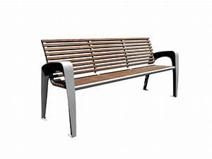Banc Exterieur Design : banc ext rieur ville assise bois support m tal design espaces mobilier urbain par sotralinox ~ Teatrodelosmanantiales.com Idées de Décoration