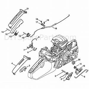 Stihl Ms 251 Chainsaw  Ms251 C  Parts Diagram  Throttle