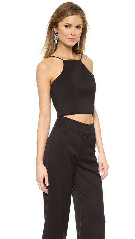two jumpsuit lyst black halo sheena two jumpsuit black in black