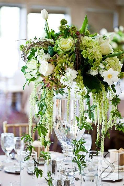 44 Beautiful Green And White Flower Arrangements Ideas