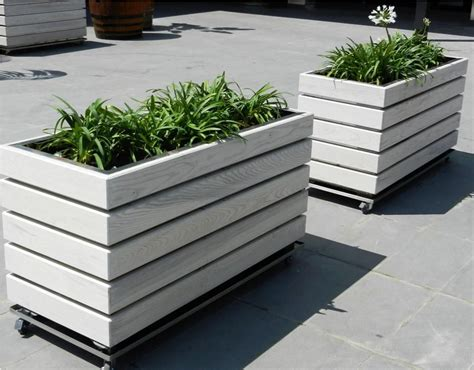Modern Outdoor Planters by Modern Wooden Planters Inspiration I I Garden Planter