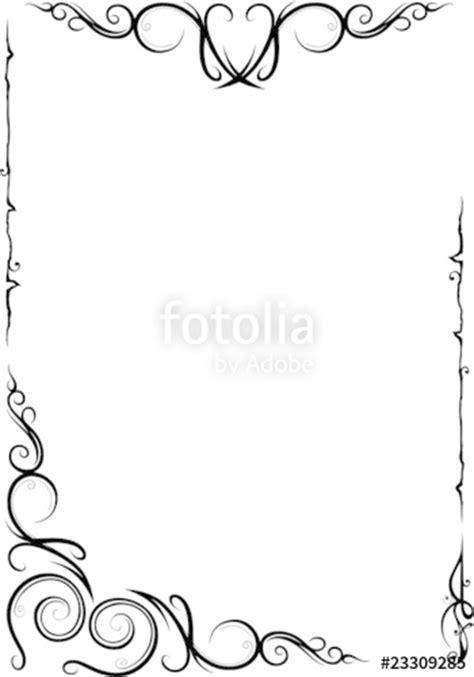 rahmen floral ornamental filigran schnoerkel