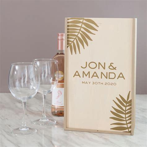 personalized wooden wine keepsake boxes  darling