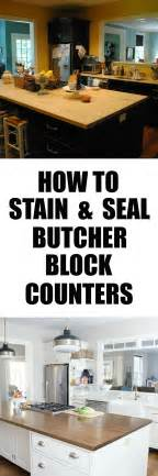 Staining Butcher Block Countertops by How To Stain And Seal Butcher Block Counters