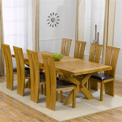oak dining table and 8 chairs for sale avignon solid oak extending dining table and 8 arizona