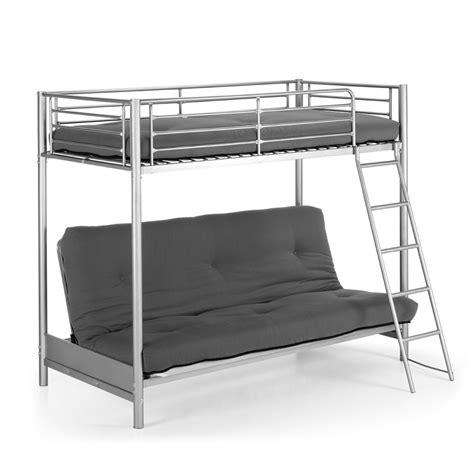 deco chambre etudiant lit superposé en métal avec canapé lit 2 places jumbo par
